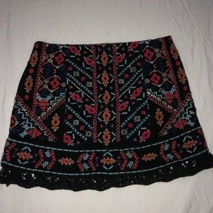 Urban outfitters ecoté stitched patterned skirt